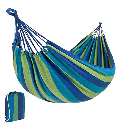 Best Choice Products 2-Person Indoor Outdoor Brazilian-Style Cotton Double Hammock Bed w/Portable...