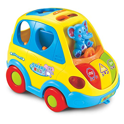 Clever Coupe – Car Shape Sorter with Music Lights and Movement – 5 Animal Shape Blocks 2 Sound Options 2 Play Modes – Activity Car Toy for Babies and Toddlers Age 18 Months