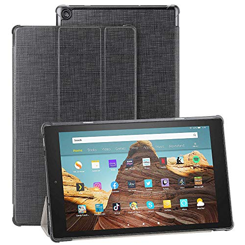 Foluu Schutzhülle für das Neue Fire HD 10 Tablet (9. Generation, 2019 Release & 7. Generation, 2017 Release), dünn, leicht mit dreifach faltbarem Ständer Smart PU Schutzhülle für Amazon Fire HD 10