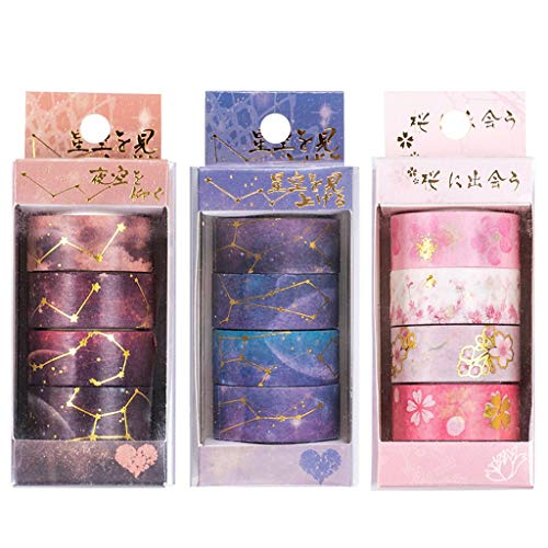 Fewxdsad Washi Tape Starry Sky Cherry Blossoms Nastro Adesivo DIY Scrapbooking Sticker A
