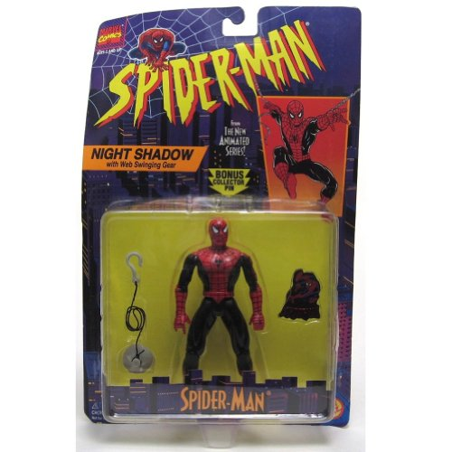 Spider-Man from the New Animated Series: Night Shadow Spider-Man with Web swinging Gear