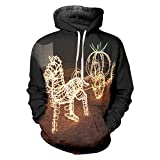 Favorito Kin Man Casual Hoodies 3D Impreso Carro de Navidad Christmas Carriage XXL