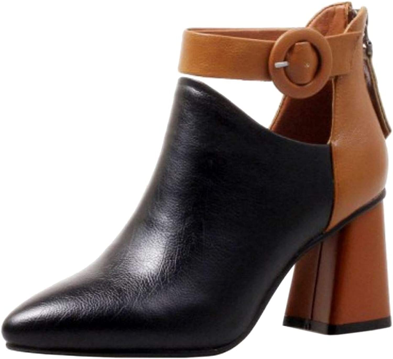 Slenderer Women Fashion Booties shoes Ankle Strap