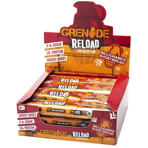 Grenade Reload Energy x 12 Bars - Billionaires Shortbread