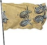 N/A USA Wächter Fahne Banner Garten Flaggen Sand Schildkröte Durable Warming Yard for Festival Terrasse Wand Deko 91,4 x 152,4 m
