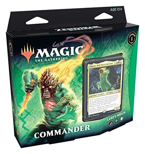 Magic: The Gathering - Renascer de Zendikar   Commander Deck Fúria da Terra   99 cards   Acessórios   Produto em Português