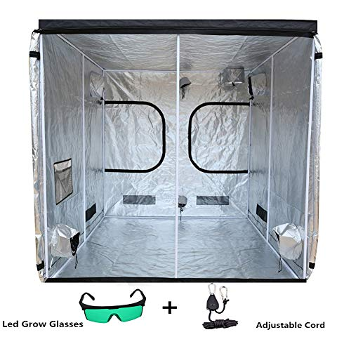 Plant Tent Grow, Tent Hydroponic Indoor Grow Box and Grow Room with Observation Window, Plant Lmap Glasses and 1/8 Inch Nylon and Floor Tray 200 * 200 * 200(78.7'x78.7'x78.7')