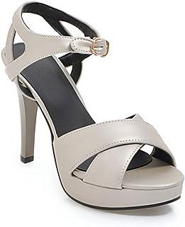 BalaMasa Womens ASL06187 Pu Platform Heels