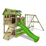 FATMOOSE Aire de jeux Portique bois TikaTaka avec balançoire et...