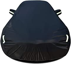 DSWDA Car Cover Car Cover Full Exterior Covers Waterproof Sun Protection Breathable Cover Dustproof Guard Outdoor Protection Compatible WithVEZEL Car Cover (Color : Black)
