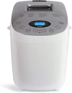 Livoo DOP205W Máquina de pan hecha en casa | doble amasa, 15 programas sin gluten, completo, tradtion, etc. | Gran capacid...