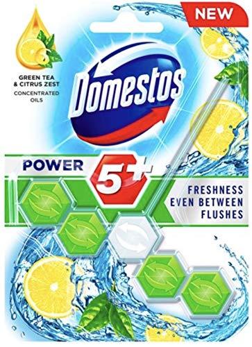 Domestos Power 5+ ~ Té verde y cáscara de cítricos (paquete de 9)