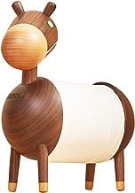 Doitool - Toallero de papel para papel higiénico, diseño de burro de dibujos animados, madera maciza (nogal)
