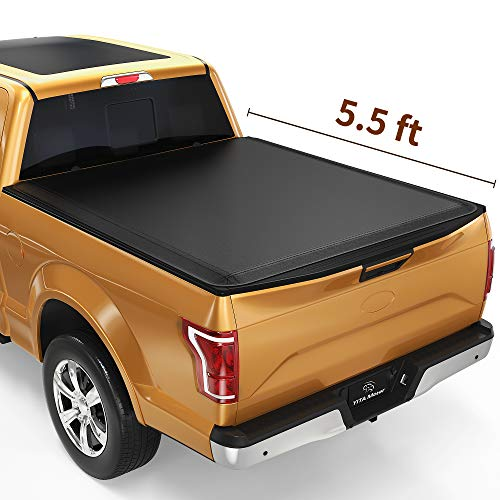 YITAMOTOR Soft Roll Up Truck Bed Tonneau Cover Compatible with 2015-2021 Ford F150, Styleside 5.5 ft Bed