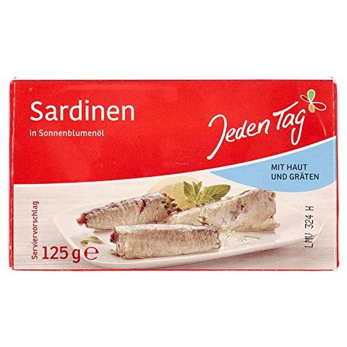 Jeden Tag Sardinen, Mit Haut und Gräten, 125g