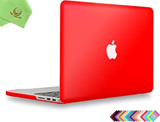 UESWILL Matte Hard Shell Case Cover for MacBook Pro (Retina, 13 inch, Early 2015/2014/2013/Late 2012), Model A1502/A1425, No CD-ROM, No USB-C, Red