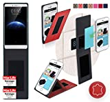 reboon Hülle für Oppo R7 Plus Tasche Cover Case Bumper | Rot Leder | Testsieger