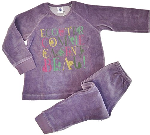 Petit Bateau Pyjama 61826 Schlafanzug Nicki lila (6 a - 116)