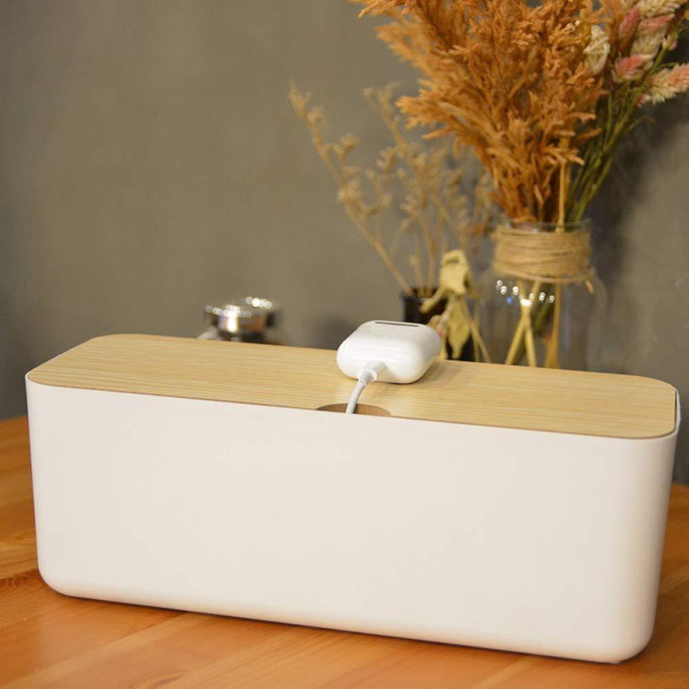 Topbathy - Caja organizadora de cables para el hogar, organizador ...