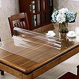 LC&TEAM Transparente Tischdecke Tischfolie Glasklar Folie 2 mm PVC Abwaschbar Hochglanz Schutzfolie Tischschutz Durchsichtig Tischschoner 40x100 cm - 8