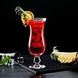 POL Simple Juice Hurricane Cup Bar Copa de cóctel Copa de Bebida Especial Bebida fría Copa de Leche Gran Capacidad 460ml Inicio460ml