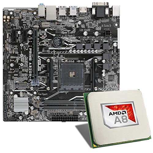 AMD A8-9600 / ASUS Prime A320M-K Mainboard Bundle | CSL PC Aufrüstkit | AMD A8-9600 4X 3100 MHz, GigLAN, 7.1 Sound, USB 3.1 | Aufrüstset | PC Tuning Kit