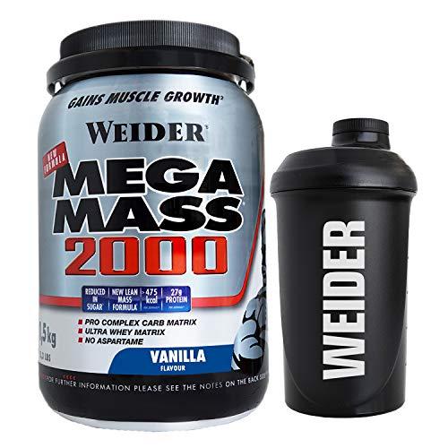 Weider Mm 2000 1,5Kg Vainilla+Shaker 750Ml 1610 ml