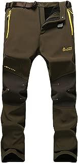 MorryOddy Men's Outdoor Waterproof Softshell Fleece Snow Pants