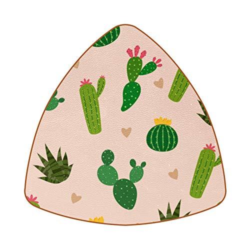Bennigiry Juego de 6 posavasos con diseño de cactus con mini corazón en el fondo para beber, posavasos para el hogar, taza, café, cerveza
