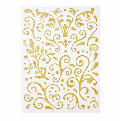 Preisvergleich Produktbild Ornamente selbstklebend gold 67 Stück