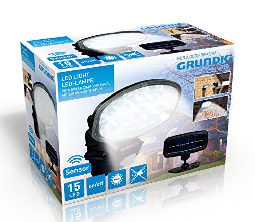 GRUNDIG 91729Lampe Solar LED Kunststoff Mehrfarbig 13x 8x 15/17,5x 1cm