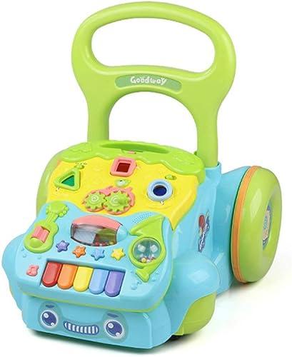 LJJY Baby-Aktivit wanderer 2 in 1 Musik Verstellbarer Speicherplatz Spielzeug-Sicherheitsmaterial ungiftig und geschmacklos 0-3 Jahre Alter Kinderwagen