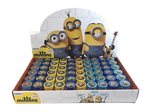 Despicable Me Minion Self-Inking Stamps Birthday Party Favors 60 Pieces (Complete Box)