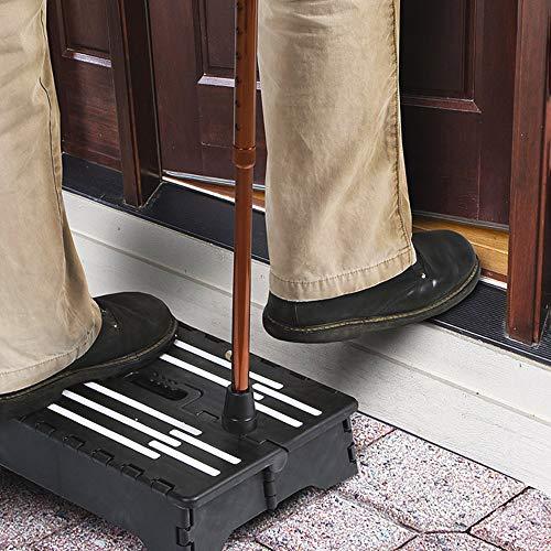 SUNJULY Kunststoff-Tür-Zugangshilfe, 13 cm / 4,5 Zoll Stufenhöhe, rutschfest, halbe Stufe, für den Innen- und Außenbereich, Treppe für Toilette, Wohnwagen, ältere Menschen und Schwangere