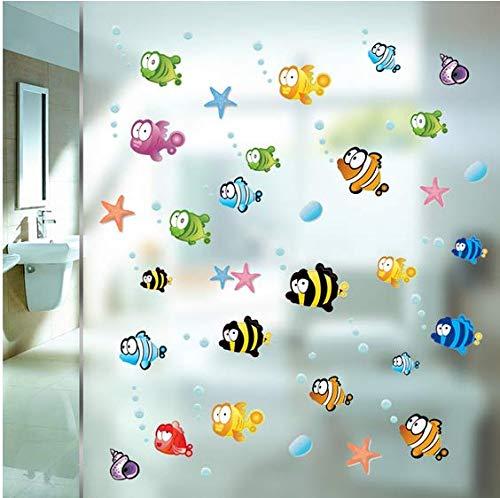 Pegatinas peces y burbujas para baño, mampara ducha, espejos, habitacinoes, guarderias baños piscinas, camping, ventaña baño caravana de CHIPYHOME