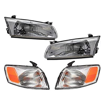 Epic Lighting OE Fitment Replacement Headlight Signal Marker Light Combo Set Compatible with 1997 1998 1999 Camry [ 4-Piece ] Driver and Passenger Sides 81150AA010 81110AA010 81520AA010 81510AA010