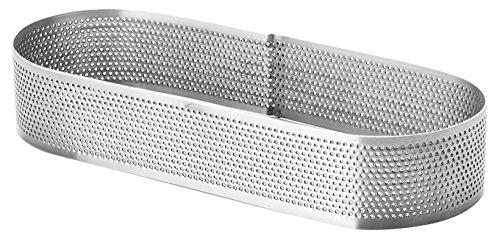 Lacor - 68581 - Molde Aro Oval Perforado 7x20x3,5cm Inox