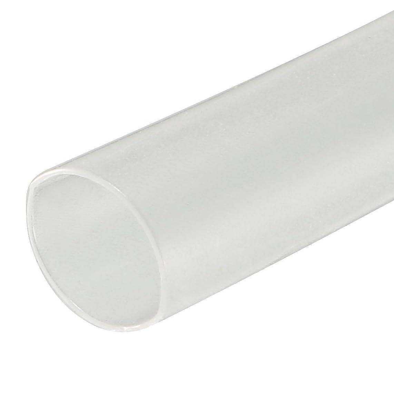 カウント気づく届けるuxcell 熱収縮チューブ 電気絶縁チューブ ヒート収縮チューブ 縮小率2:1 直径3.5mm 長さ5m クリア