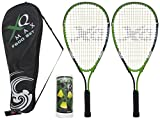 XQmax Erwachsene Speed Badminton G600, Black/Green/White, 58 cm