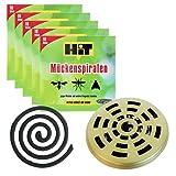 Insektenspirale anti mückenspirale gegen Mücken draußen die zuverlässige Räucherspirale 50 antimücken spiralen gegen Mücken, Wespen und andere Insekten mit Halterung und Brennschale als Zugabe (5)