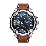 Diesel Men's Boltdown Quartz Leather Chronograph Watch, Color: Brown (Model: DZ7424)