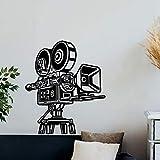 Applikation Retro Kamera Wandtattoo Kino Video Film Decor Geschenk Vinyl Aufkleber Heimkino Wandkunst Haus Studio Tapete Wandbild X CM