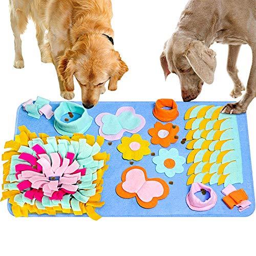 Almohadilla para olfatear Mascotas, Alfombrilla para Columpios para Perros,para Morder Alfombra de Juego Entrenar Habilidades Naturales de Forraje Estera de Alimentación Nosework Blanket,(45×75 CM)
