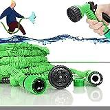 Mangueira de jardim extensível, 30M / 100FT mangueira de jardim retrátil Mangueira de jardim flexível com 7 funções de pistola, para lavagem de carros de jardinagem rega camping (30M)