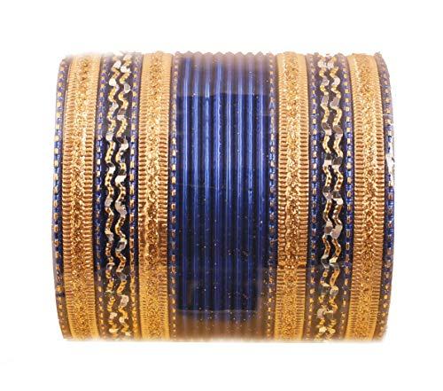 Touchstone 2 Dutzend strukturierte Blaue Spezialarmbänder aus legiertem Metall für Damen 2.75 Set 2 Blau
