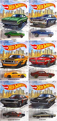 Hot Wheels Detroit Muscle Car Complete Series 6 Car Set