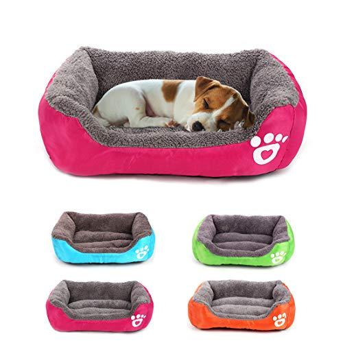 Yiteng ペット 犬のベッド 防寒 可愛い秋冬用 犬猫の巣 保温防寒 暖かい 休憩所 小さな 犬小屋(ローズレッド)