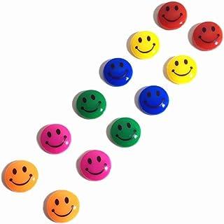 ازرار مغنطيسية بوجوه مبتسمة للالواح البيضاء المغنطيسية - مجموعة من 12قطعة [OS-EQ005-03]
