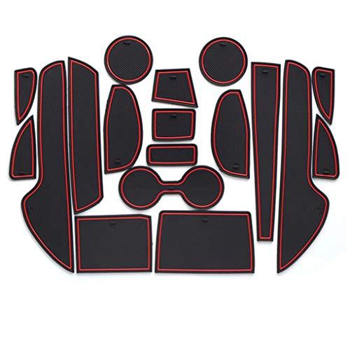 8X-SPEED para CX-5 2015 Almohadilla de La Ranura de Puerta Cup Alfombrillas Interior Alfombrillas Antideslizantes Interior Puerta Seguridad Pad 18 Piezas Rojo
