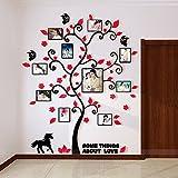 Alicemall Stickers Autocollants Muraux Amovibles 3D en Acrylique Arbre avec des Branches Incurvées et des Cadres de Photo (style...
